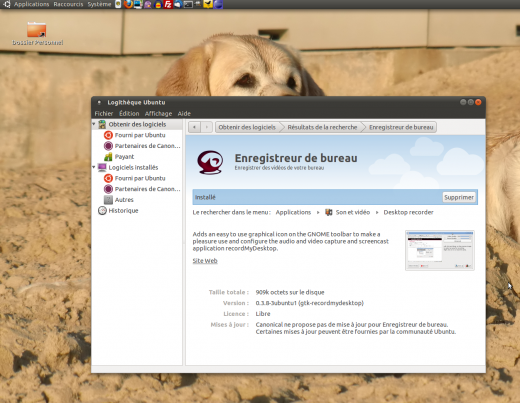 installation de recordmydesktop