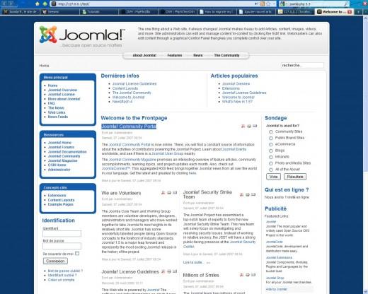 exemple de site joomla