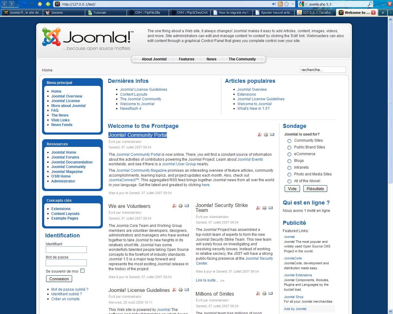 Joomla Exemple Exemple de Site Joomla